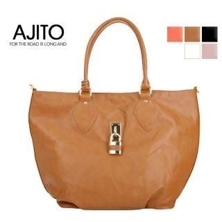 Buy AJITO Faux-Leather Tote 1022417608