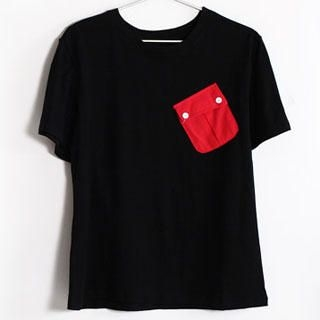 Buy SERUSH Pocket Front Crewneck Tee 1022885338
