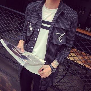 Striped Print Long Shirt 1049134976