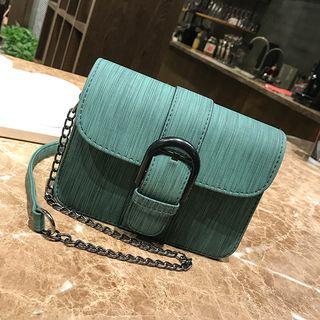 Buckled Chain Strap Crossbody Bag