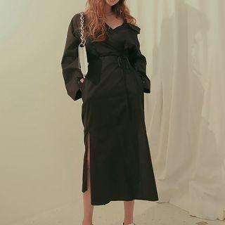 Long-Sleeve Tie-Waist Dress 1061701369