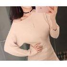 Dolman-Sleeve Ribbed Mini Dress 1596