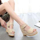 Platform Wedge Sandals Beige - 39 от YesStyle.com INT