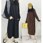 Hooded Midi Pullover Dress 1596