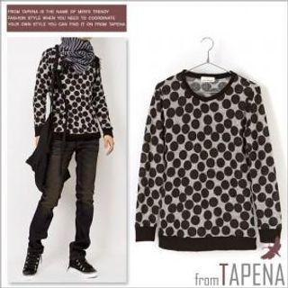 Buy TAPENA Dot Pattern Knit Sweater 1021643156