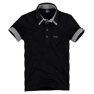 Picture of Justyle Contrast-Trim Short-Sleeve Polo Shirt 1022741031 (Justyle, Mens Tees, China)