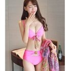 Set: Bow Bikini + Elbow-Sleeve Cover Dress 1596