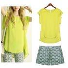 Set: Short-Sleeve Top + Shorts 1596