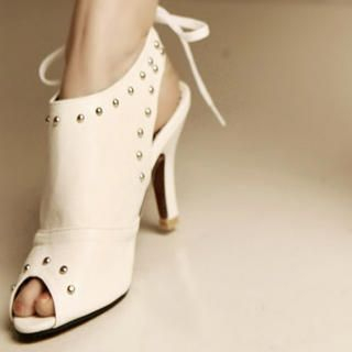 Buy Kvoll Studded Peep-Toe Sandals 1022464064