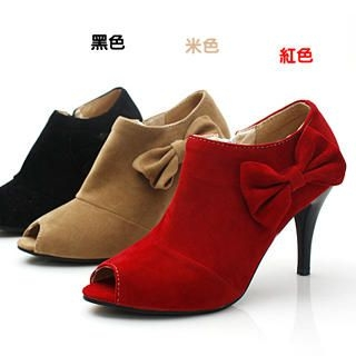 Buy KAWO Bow Peep-Toe High-Heels 1022760531
