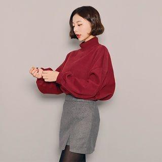 Mock-Neck Fleece-Lined Pullover 1063310152