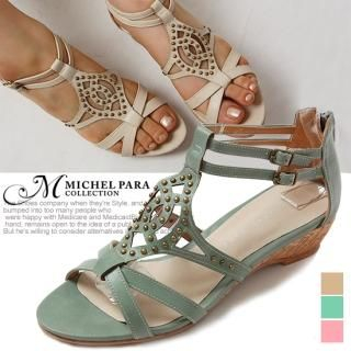 Buy MICHEL PARA COLLECTION Studded Wedge Sandals 1022938121