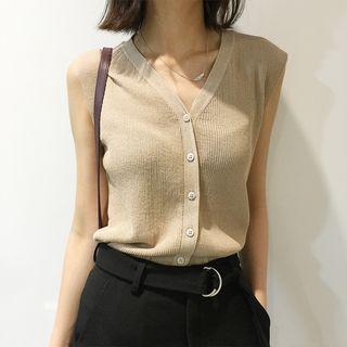 Sleeveless Knit Top 1051151945