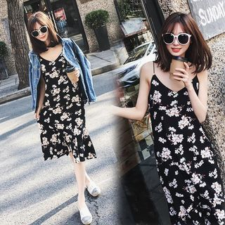 Strappy Floral Chiffon Midi Dress 1058576904