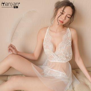 Set: Lace Nightdress + Thongs 1064899316