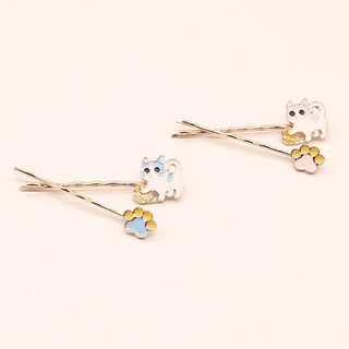 Image of Alloy Cat / Paw Hair Pin