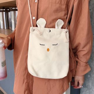 Image of Animal Canvas Crossbody Bag As Shown In Figure - One Size