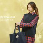 Sleeveless Dip-Back Wool Blend Knit Top 1596