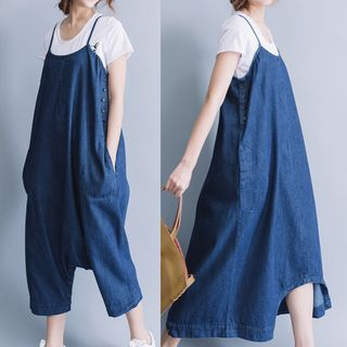 Midi Pinafore Dress 1059764612