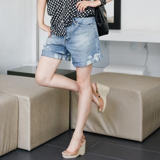 Buy pinkdiamond Distressed Detail Denim Shorts 1022943127