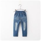 Washed Straight-Leg Jeans 1596