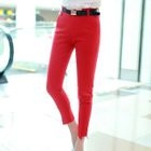 Plain Cropped Skinny Pants 1596