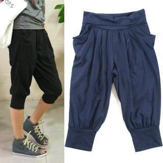 Picture of Blingstyle Cropped Baggy Pants 1022711090 (Womens Saruel Pants, Womens Cropped Pants, Blingstyle Pants, South Korea Pants)