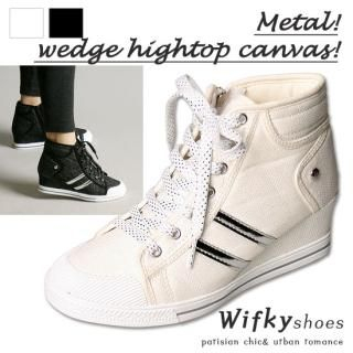 Buy Wifky Lace-Up High-Top Wedge Sneakers 1022547387