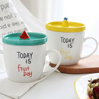 Printed Water Cup with Lid 1059570950