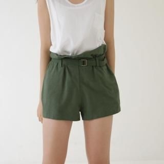 Buy Youareagirl Pleated Shorts with Belt 1022875141