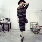 Set: Striped Knit Top + Skirt 1596