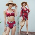Set: Floral Print Bikini + Playsuit 1596