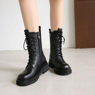 Lace-up Short Boots