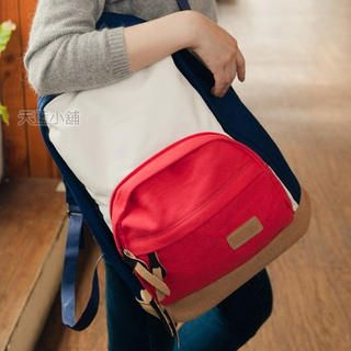 Color-Block Canvas Backpack