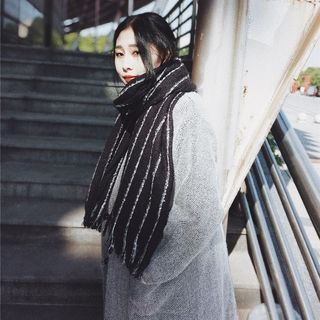 Striped Knit Scarf - United states