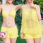Set : Bikini Top + Swim Bottom + Cover-up 1596