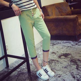 Linen-blend Capri Jogger Pants