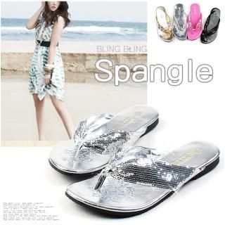 Buy Miz shoes Sequined Flip Flops 1022808747