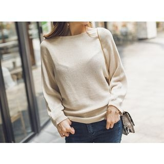 Boat-Neck Knit Top 1053644628