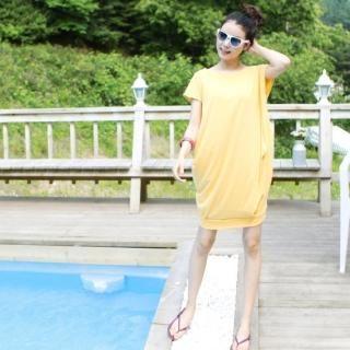 Buy VIPSGIRL Short-Sleeve Shirred Dress 1022915114