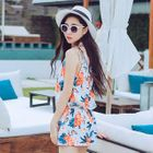 Set: Floral Print Halter Bikini + Cover-Up 1596