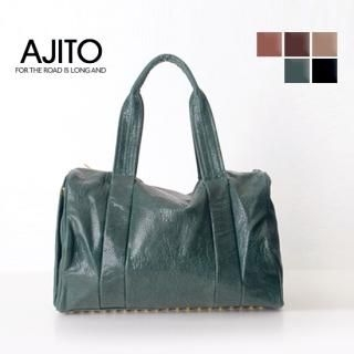 Picture of AJITO Faux-Leather Satchel 1021632409 (AJITO, Satchels, Korea Bags, Womens Bags, Womens Satchels)