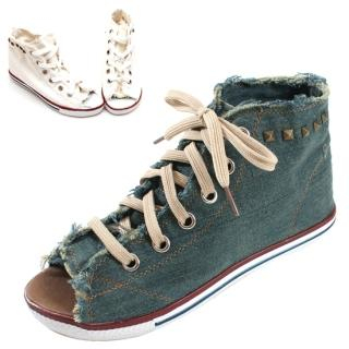 Buy Blingstyle Shoes Lace-Up Open-Toe Sneakers 1022727369