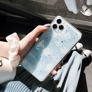 Image of Blue Flower Print Mobile Case - iphone 7 / 8 /7plus / 8plus / X / XS / XS Max / XR /11/11 Pro/11 Pro Max