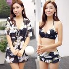 Set: Flower Print Bikini + Cover-Up 1596
