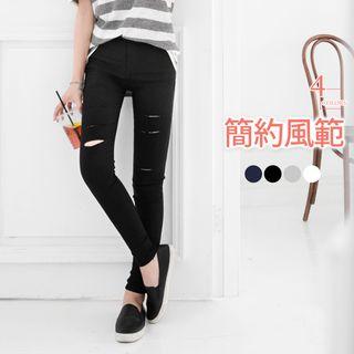 Ripped Stretch Skinny Jeans 1052915576