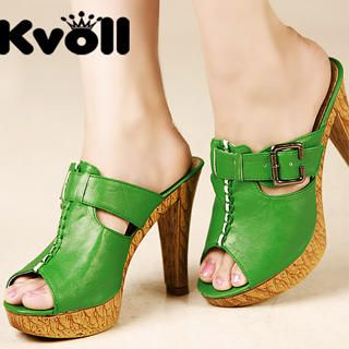 Buy Kvoll Buckled Open-Toe Platform Sandals 1023009831