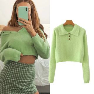 Sweater   Green   Polo   Size   One