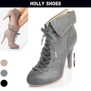 Buy Holly Shoes Lace-Up Platform Ankle Length Boots 1023019987