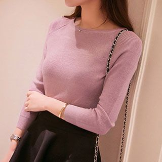 Boatneck Knit Top 1045313111